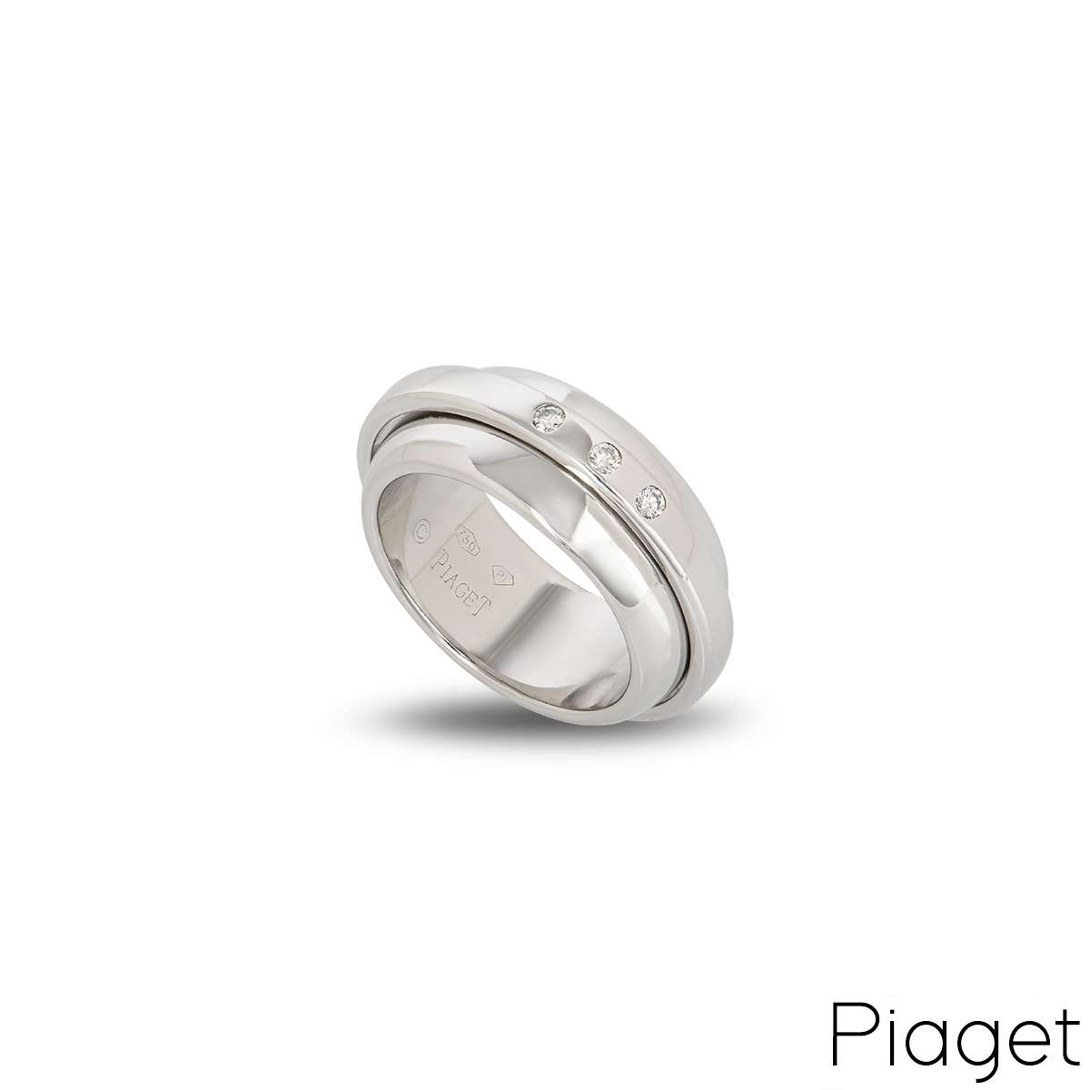 Piaget 18k White Gold Possession Ring B&P G34PM653